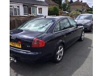 2004 53 plate Audi A6 Blue Automatic, Long Mot, Superb Leather Interior