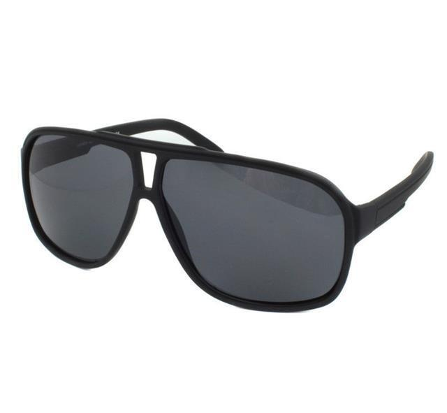 Black Aviator Frame Sunglasses Fashion Square Curved police Cop Retro