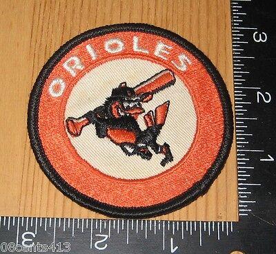 Baltimore Orioles MLB Baseball Team Orange & Black Round Cloth Patch Only