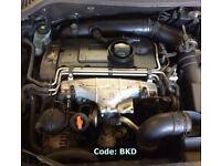 Seat Leon, VW Passat, Golf 2.0 TDI Engine Code: BKD Breaking For Parts (2006)