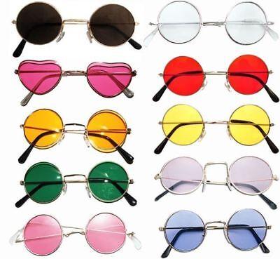 ** ROUND GLASSES JOHN LENNON OZZY OSBOURNE VARIOUS COLOURS ADULT FANCY DRESS NEW