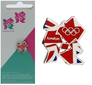 London 2012 Olympic Union Jack Pin Badge Team GB Souvenir - Mounted on Card