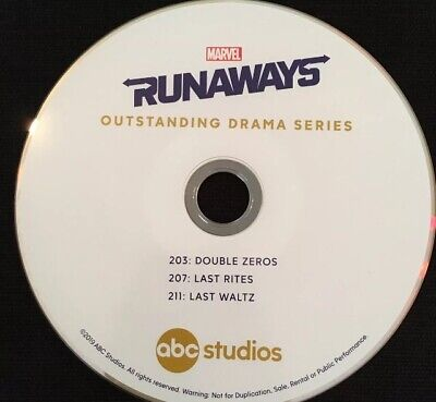 Marvel's Runaways DVD EMMY FYC 2019 ABC Season 2 Best 3 Episodes TV Show