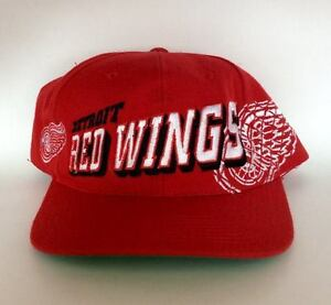 Vintage Detroit Red Wings Snapback Hat by Sports Specialties