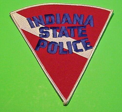 "INDIANA STATE POLICE  DIVERS  5 1/2""  POLICE PATCH  FREE SHIPPING!!!"