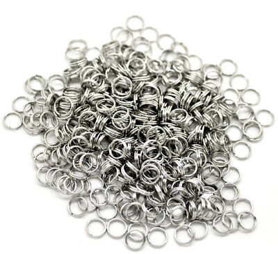 7mm Stainless Steel Split Rings Surgical Steel x 100 SS010