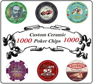 1000 CUSTOM 10g CERAMIC POKER CHIPS