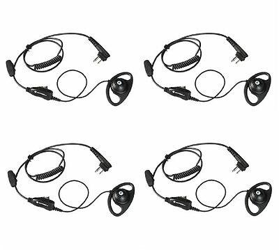 Hkln4599 Motorola Two Way Radio Earpieces Dtr600 Dtr700 Cls1410 Rmm2050 Qty 4