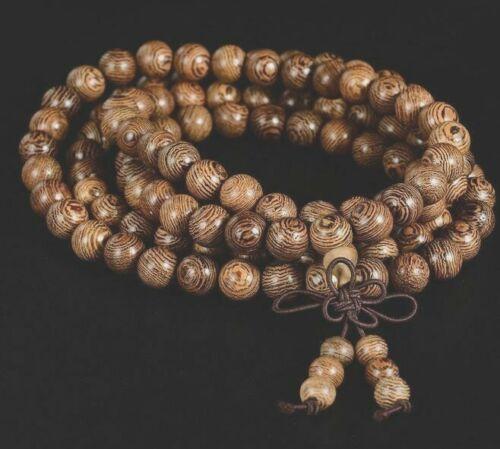 8mm*108 Mala Prayer Beads Natural wood Buddhist Bracelet Necklace (US Sold)