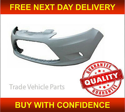 FORD FIESTA 2008 2012 FRONT BUMPER WITH FOG HOLES NEW INSURANCE APPROVED