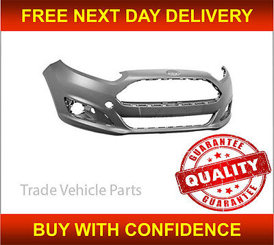 FORD FIESTA 2013 2016 FRONT BUMPER PRIMED INSURANCE APPROVED HIGH QUALITY NEW