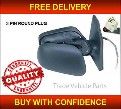 TOYOTA COROLLA 2002 2007 DOOR WING MIRROR ELECTRIC BLACK DRIVER SIDE NEW