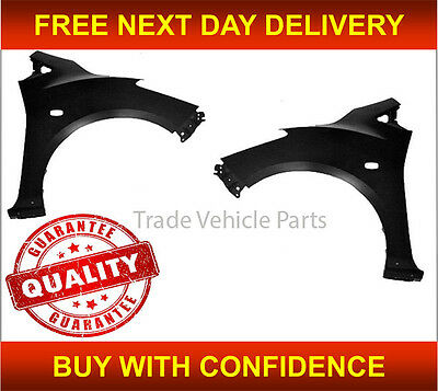 Mazda 2 2007-2015 Front Wing Primed Pair Left & Right With Sill Moulding Hole
