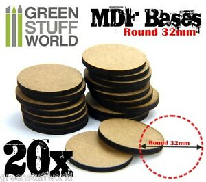 20x-Peanas-DM-REDONDAS-32mm-para-miniaturas-modelismo-warhammer-aos-infinity