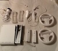 Wii console, controllers, and games for sale!
