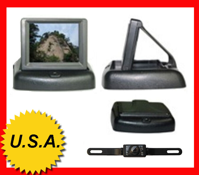 New 4 3 inch Car LCD Monitor Rear View Reverse Backup Camera Night Vision System