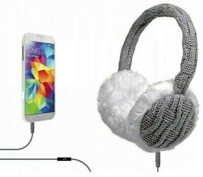 Orejeras Auriculares Cascos Caliente Invierno en Oído con Cable 3.5mm Mic Nuevo