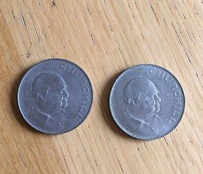 2 x Churchill 1965 Coins