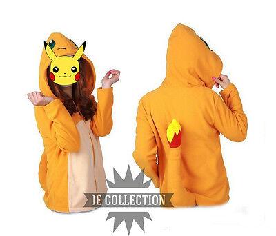 Pokemon Glumanda Kapuzenpullover Cosplay Kostüm Misérable Hat