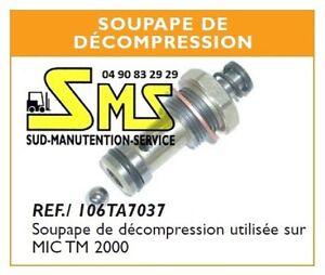 Clapet soupape de decompression transpalette manuel - Soupape de decompression chambre froide ...