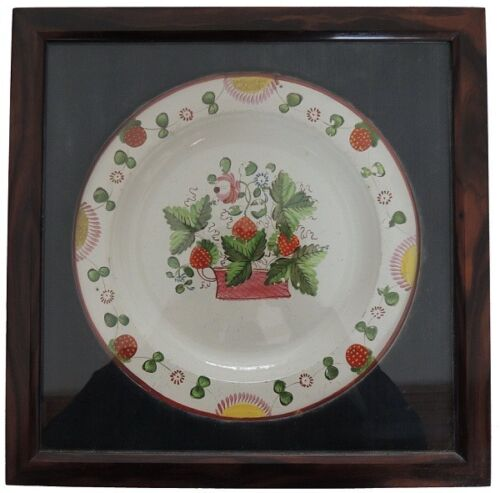 Antique Staffordshire Strawberry Plate