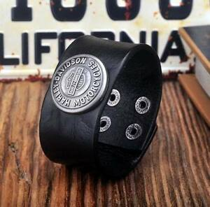 Harley Davidson Leather Bracelets - Black & Brown - New London Ontario image 3