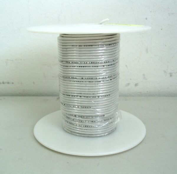NEW CAROL 100 FT WHITE JUMPER WIRE SPOOL #20 AWG 10/30 TINNED COPPER RoHS COMPLI