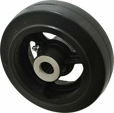 Fairbanks 6 Inch Diameter X 2 Inch Wide Rubber Caster Wheel 410 Lb. Capacity...