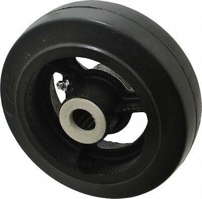 Fairbanks 6 Inch Diameter X 2 Inch Wide Rubber Caster Wheel 410 Lb. Capacity...