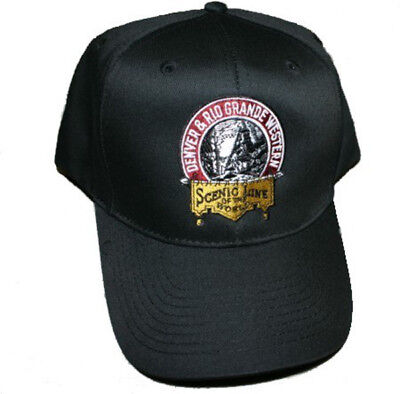 Denver and Rio Grande Western Railroad Embroidered Hat Black Denver And Rio Grande Western Railroad