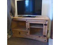 Corona solid natural wood TV unit
