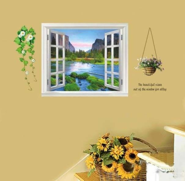 Window View Wall Decals Home Room Decor Decoration art Vinyl Sticker Murals фото