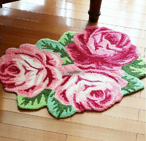Elegant Rose Flower Bath Rug Floor Mat Door Rug Best