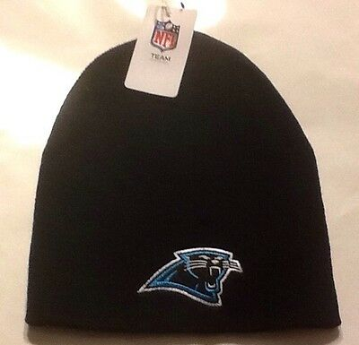 Carolina Panthers Skull Cap (Carolina Panthers Knit Beanie Winter Hat Toque Skull Cap NEW NFL)