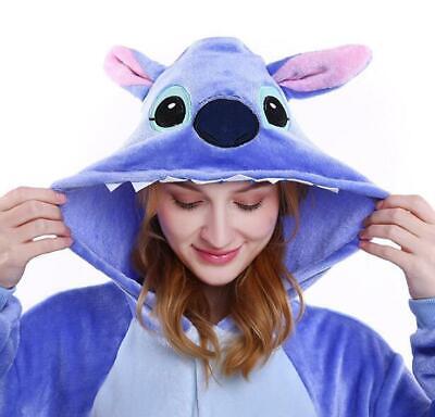New Adult Cute Animal Kigurumi Pajamas Costume Cosplay pajamas Blue Stitch - Cute Adult Pajamas