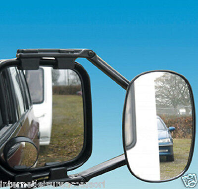 "Pair of 4x4 / Van Towing Mirrors - Vision Caravan Mirrors -""E"" Approved - SM0060"