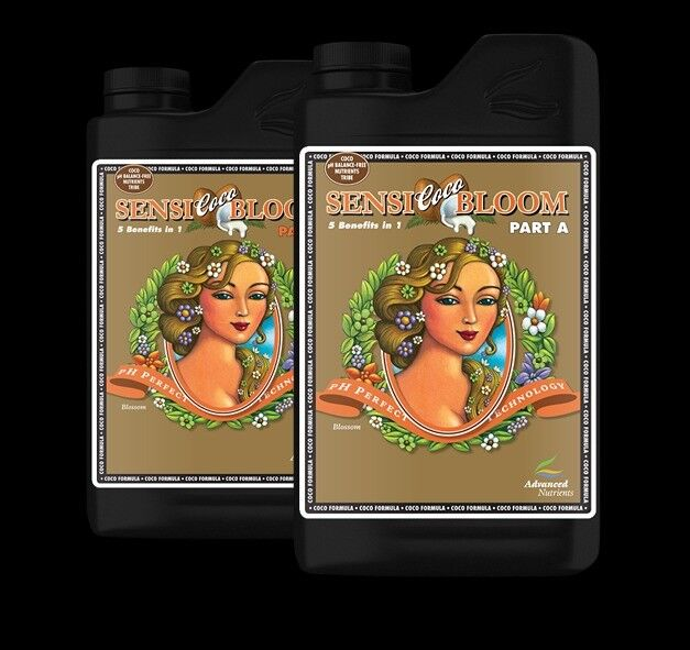Hydroponics Advanced Nutrients Sensi Coco Bloom 1 Litre 1L A+B pH Perfect Hydroponics