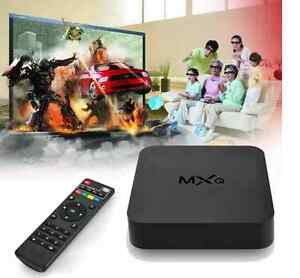 New MXQ Android TV box streaming media player. Loaded with apps