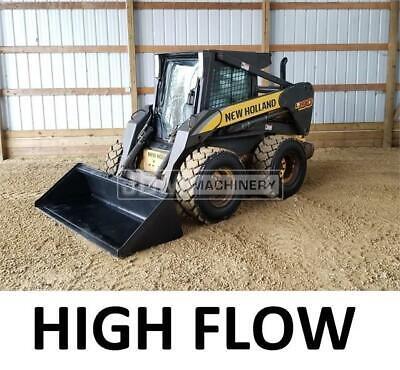 High Flow 2009 New Holland L190 Heat Air Skid Steer Wheel Loader Tire Machine