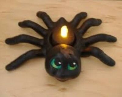 Halloween Spider Candle Holder Ready to Paint, Unpainted Ceramic Bisque  - Halloween Crafts Candle Holder