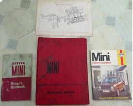 Mini Workshop Manuals inc Austin Mini servicing guide instruction manual