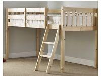 Midi Single bed with ladder storage underneath