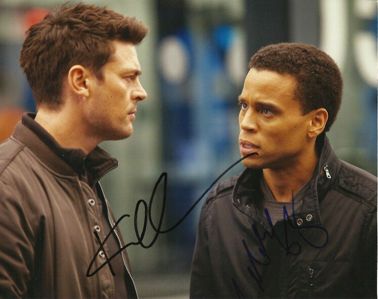 Almost Human Karl Urban Michael Ealy Autographed Signed 8x10 Photo COA