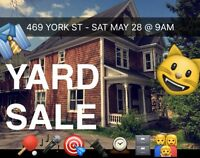 YARD SALE - 469 York St - MAY 28th @ 9am