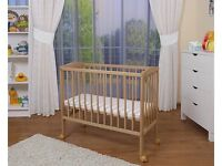 Fabimax bedside cot with new mattress