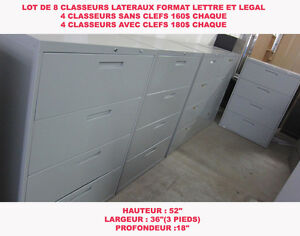 CLASSEUR FILIERE LATERAL 4 TIRROIRS METAL FILING CABINETS 4 DRAW