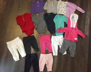 Newborn girl clothing lot