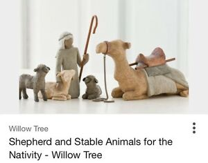 Shepherd and Stable Animals Willow Tree - Missing crook -