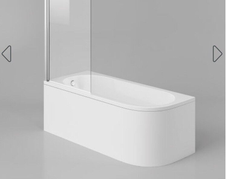 1700mm Bath curved with panel