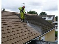 Men wanted for work in germany power washing roof of low houses